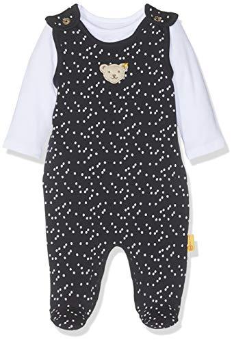 Steiff Baby - Mädchen Strampler Set + T - Shirt L001912443, Gr. 68, Blau (Black Iris 3032)