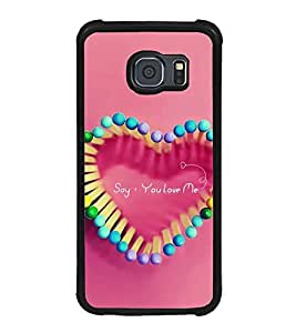 ifasho Designer Back Case Cover for Samsung Galaxy S6 Edge :: Samsung Galaxy S6 Edge G925 :: Samsung Galaxy S6 Edge G925I G9250 G925A G925F G925Fq G925K G925L G925S G925T (Love Love Gifts For Boyfriend D Love Kurti Love Jewellery For Couples)