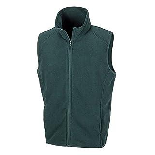 Absab Ltd Result Core Micro Fleece Mens Gilet Adult Lightweight Sleeveless Plain Casual Full Zip Bodywarmer (XXL, Forest)