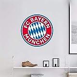 Wandaufkleber 3D Wandtattoo FC Bayern München Sport Fußball Team Logo Anmelden