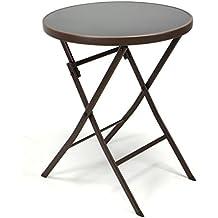 Wunderbar Nexos Bistro Tisch Mit Glasplatte Klappbar Terrassentisch Gartentisch  Glastisch Braun