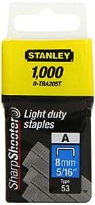 Stanley Light Duty Staple 8MM (1000)  0-TRA205T