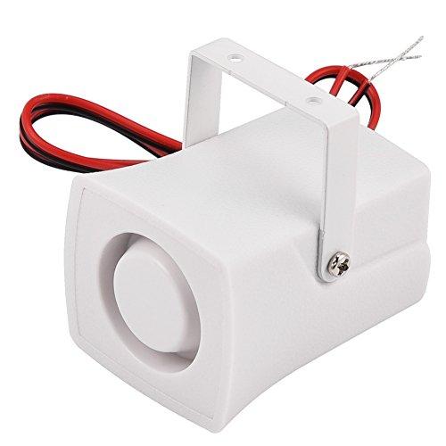 Mini Piezo Sirene,Richer-R 120DB DC12V Piezo Alarmsirene Mini verdrahtete Sirene Horn,Wired Mini-Sirene Alarm System mit Halterung für Home Security Oder KFZ Motorrad Boot