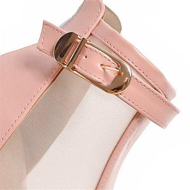 LvYuan Da donna-Sandali-Tempo libero Formale Casual-Comoda Innovativo Club Shoes-Quadrato-Materiali personalizzati Finta pelle-Nero Rosa Bianco Black