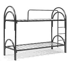 Litera metálica negro cm 80x190 (total 80x205x155) con escalera para acceso a la cama superior