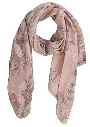 Lovely Lauri Damen Tuch Schal Blume Flower Blume Made in Italy Rosa -