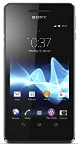 Sony Xperia V Smartphone (10,9 cm (4,3 Zoll) Touchscreen, Qualcomm Krait, Dual-Core, 1,5GHz, 1GB RAM, 8GB HDD, 13 Megapixel Kamera, Android 4.0) schwarz