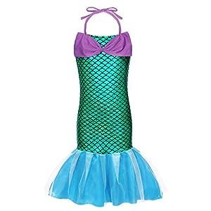 AmzBarley Costume della Sirenetta Vestito vestirsi Ragazza Bambina Coda di Pesce Costumi di Halloween Vestiti Compleanno… 1 spesavip
