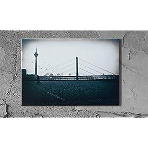 Düsseldorf Rheinterrassen Fernsehturm Leinwand Druck Fotografie 20 x 30 cm Kunst Fotografie Wanddeko Wandbild