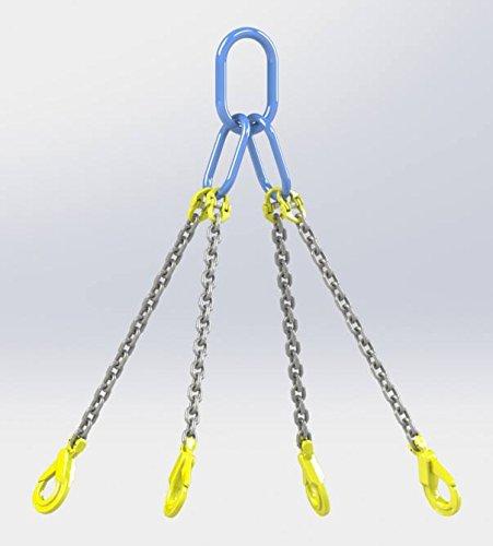 Hackett AMZ1023131 - Cadena con ganchos de seguridad, 7mm Chain Dia, 1