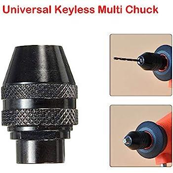 0.3-3.2mm Keyless Drill Bit Chucks Adapter Converter Universal Mini Chuck Power Tool MultiChuck Keyless Compatible for Dremel Rotary Tools 8x0.75mm Long