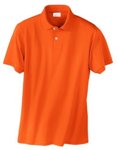Hanes Herren Comfortblend EcoSmart Jersey Polo Orange - Orange