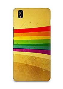 Amez designer printed 3d premium high quality back case cover for OnePlus X (Lines stripes colorful ribbon)