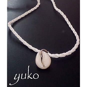 """Halskette""""Yuko"""" Lederkette weißes nautisches Leder Muscheln kauri fashion trend Herren Damen summer Wickelarmband Geschenkbox"""
