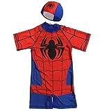 JLWF Kinder-Badeanzug Spider-Man Superhero Boys Siamese Sunscreen Soft Swimwear Spiderman- XL (6~8 Years Old)