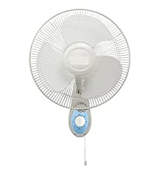 VARSHINE HOTLINE || ASHOKA Wall Fan || Multi-Purpose fan || High Speed || Single Cord Control || Copper Winding || 12 inch(300 mm) || with 1 Season Warranty || A-03