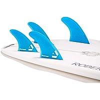 DORSAL Surfboard Fins Hexcore Quad Set (4) Honeycomb FUT Base Blue