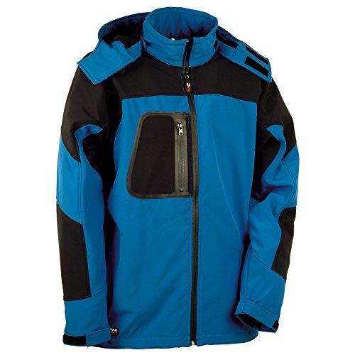 Cofra Softshell Winterjacke Sweden V101 wasser-/ windabweisende Funktionsjacke 02 schwarz/blau, Größe 64