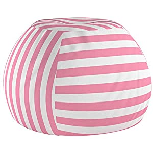 Wekapo Sitzsack mit Stofftier-Aufbewahrung, großer Samt, weicher Sitzsack für Kinderspielzeug, Organizer | 96,5 cm extra…