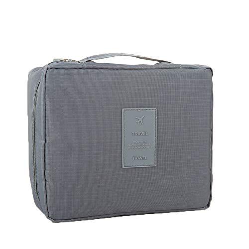 YoM® Makaron tragbare Reise-Kosmetiktasche wasserdicht, grau (Grau) - YoM-Collections003 - Logo Kleidungsstück