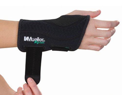 Mueller Greenline Bandage zur Handstabilisierung 86271, S/M rechts, schwarz -