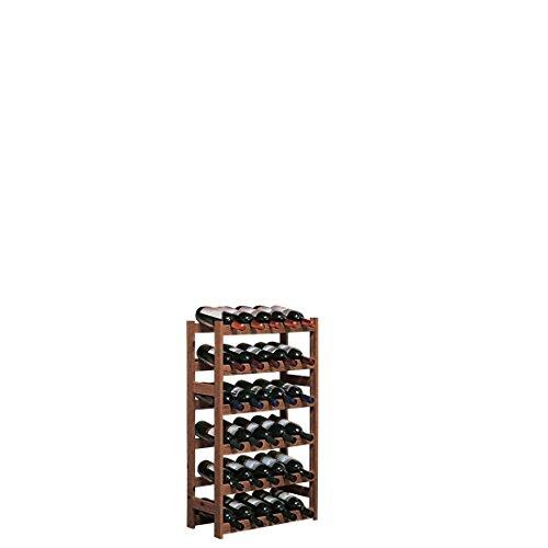 """Weinregal / Flaschenregal System \""""Simplex\"""" Modell 2, für 30 Fl., Holz, Kiefer braun gebeizt"""
