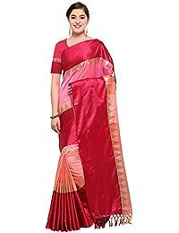 VARKALA SILK SAREES Women's Kanjiwaram Banarasi Katan Silk Saree (Free size)