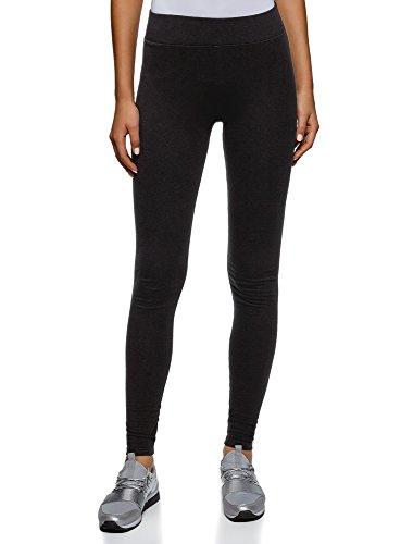 oodji Ultra Damen Jersey-Leggings Basic, Schwarz, DE 42 / EU 44 / XL