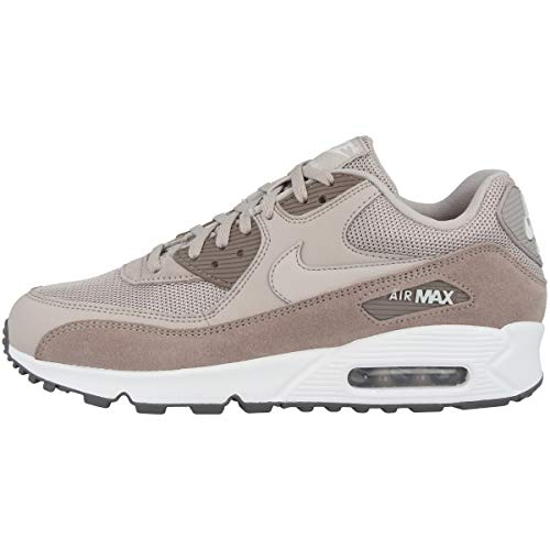 Nike Herren Air Max 90 Essential Leichtathletikschuhe, Mehrfarbig (Moon Particle/White/Sepia Stone/Gunsmoke 000), 42 EU - Jungen Rot Nike Sneakers