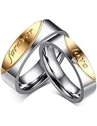 Anvi Jewellers 18Ct Platinum Coated Couple Love Ring For Men & Women