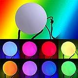 LED Glow Poi, NHsunray Leuchtpoi Kugeln Nachtleuchtender Mehrfarbige Geworfen für Bühne Bauchtanz Hand Requisiten (Weiß)