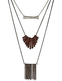 0d2b79a48397 Tata Gisèle - Collar de fantasía multifilas de Metal Dorado