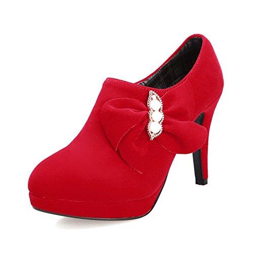 1to9, Red Chaussures À Talons Hauts Pour Femmes