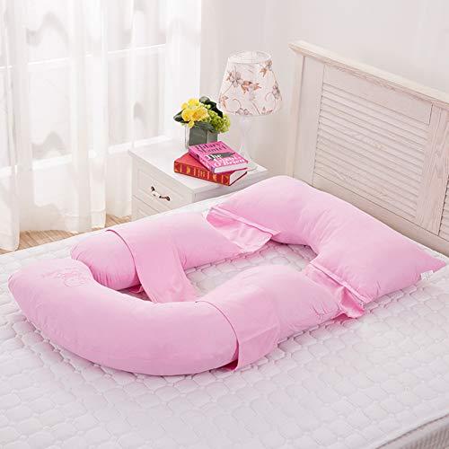 K&G Coussin De Grossesse Complet pour Le Corps, Allaitement De Maternité Et Soutien d'allaitement pour Le Soulagement des Maux De Dos, avec Taie en Coton Lavable,Pink