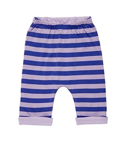 Sense Organics Baby-Mädchen Hose Baker Reversable Pant Stripes, Mehrfarbig (Lilac Stripes + Lilac Solid 696000), 92 (Herstellergröße: 18M)