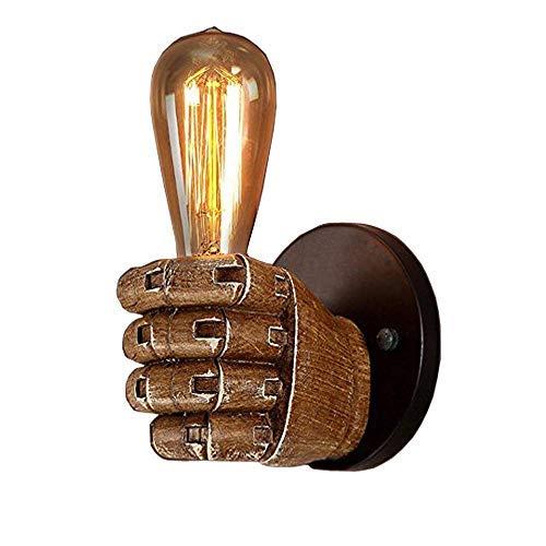 Licht-schwarz-wand-halterung (NIUYAO Wandleuchten Wandlampe Metall Stil Hand Halten Licht Vintage Retro Industrie Innenbeleuchtung Wände Leuchten Schwarz- Linke Hand)