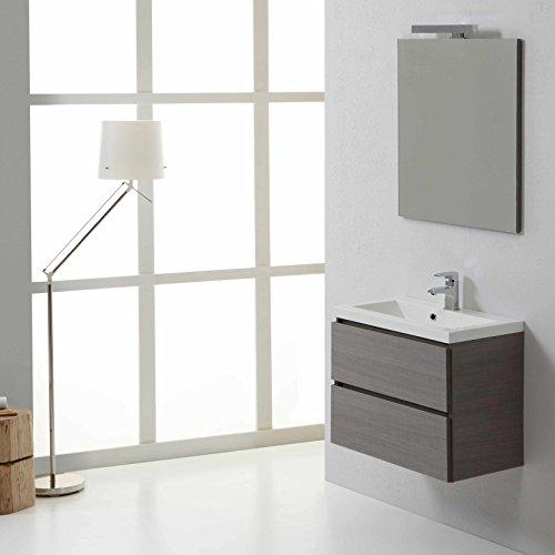 Mobile bagno sospeso manhattan 60 cm con cassetti grigio