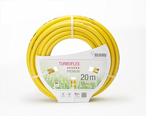 'Rehau TurboFlex Jardin Tuyau d'eau Tuyau en PVC Jaune 1/2 20 m