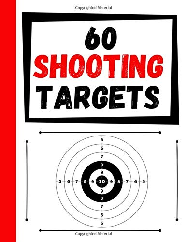 60 Shooting Targets: Large Paper Perfect for Rifles / Firearms / BB / AirSoft / Pistols / Archery & Pellet Guns (Airsoft Pellet Gun)