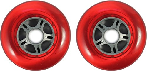 Blank Scooter Wheels 100mm Clear Red 2er Pack