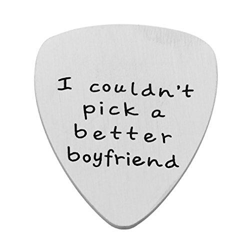San Valentín novio regalos I Couldn 't pick a mejor novio púa de guitarra para los hombres Boy inoxidable acero