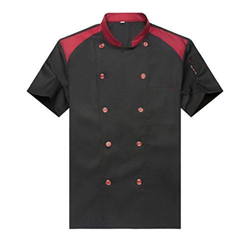 WAIWAIZUI Giacche da chef Cuoco Manica Corta Nero