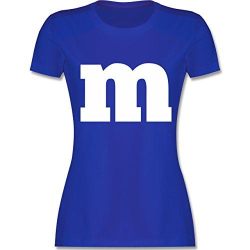 Karneval & Fasching - Gruppen-Kostüm m Aufdruck - XL - Royalblau - L191 - Damen T-Shirt Rundhals