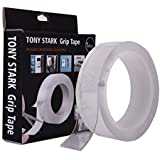 TONY STARK ® 3 m Double Sided Adhesive Heat Resistant Removable, Washable, Reusable, Sticky, No Trace, Anti-Slip Gel…