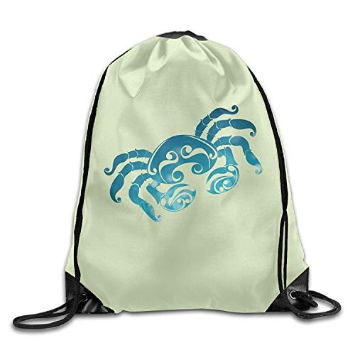 Cancer Sun Sign Zodiac Cool Drawstring Shoulder String Bag Backpack Sackpack -