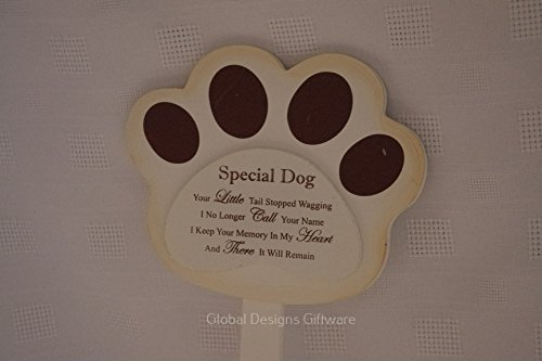 Special Dog Grave Marker Stick Stake Memorial Tribute Your Little Tail Stopped Wagging F1625 3