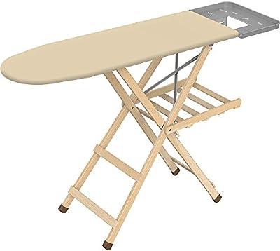 Framar 1445080010000Eco Tabla de planchar, madera y metal, 141x 7,5x 90cm