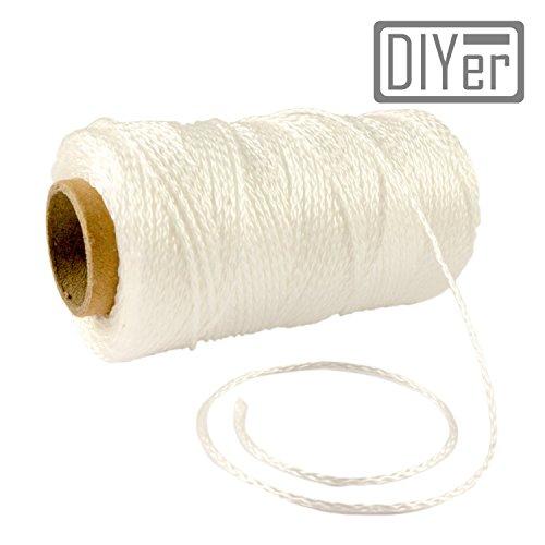 DIYer® - Premium Maurerschnur Mehrzweckseil Richtschnur Schnur - 1,2mm - 90m - ca. 30kg (daN) - Polypropylen - Farbe weiß - Made in AT