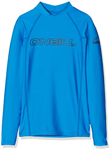 O'Neill Wetsuits Kinder-Bademode mit UV-Schutz Youth Basic Skins L/S Crew Shirt, Brite Blue, 8