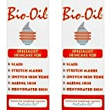 Bio Oil Skin Care Scars Stretch Marks Uneven Tone Ageing Dry Face Body - 60ml - PACK OF 2